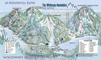Whitecap Mountains trail map